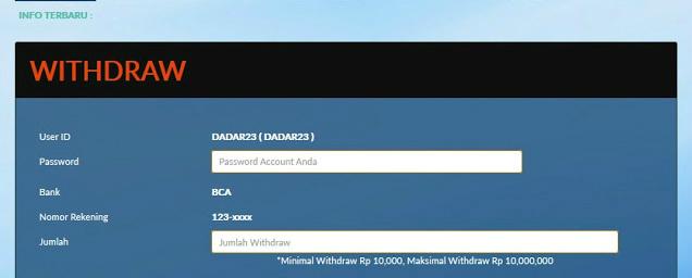 Aplikasi untuk withdraw sbobet
