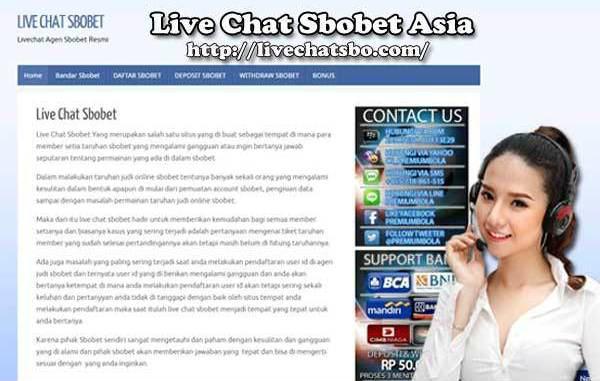 Live chat di aplikasi sbobet